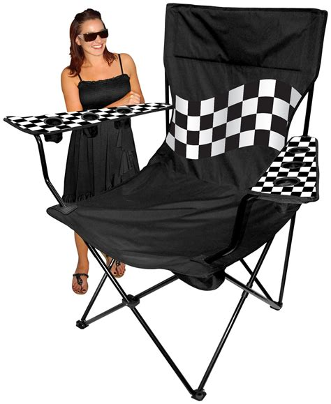 oversized kingpin folding arm chair 6 cup holders