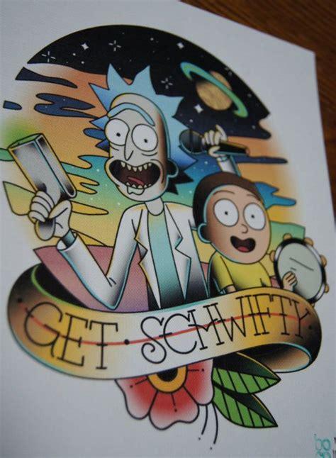 Die Besten 25+ Rick And Morty Tattoo Ideen Auf Pinterest