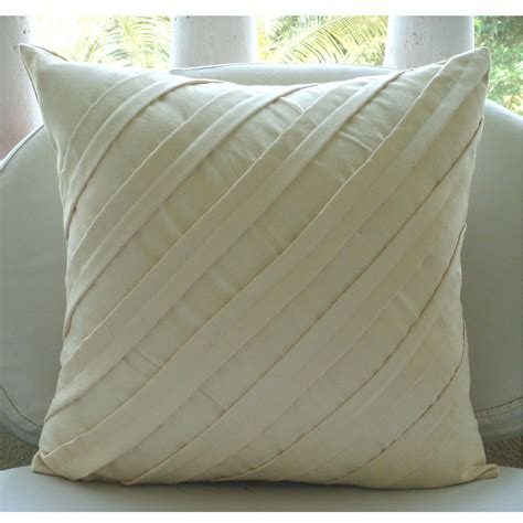decorative pillow cover square textured pintucks