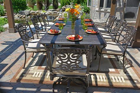 serena luxury 8 person all welded cast aluminum patio