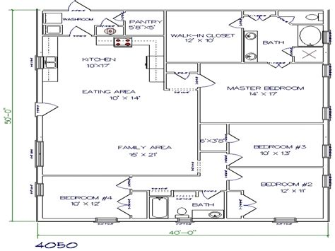 barndominium floor plans 40x50 metal building house plans building plans for homes