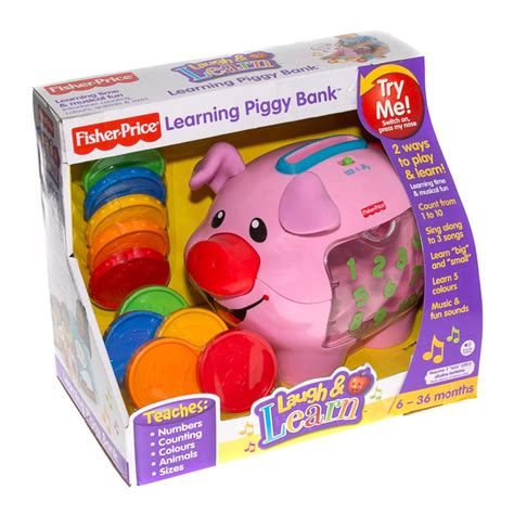 B&M Fisher Price Learning Piggy Bank   180135   B&M