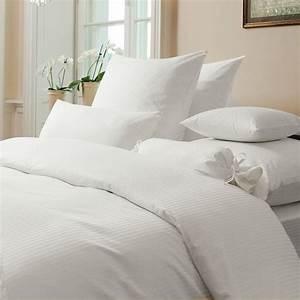 Weiße Bettwäsche 200x200 : damast bettw sche rubin streifen weiss www wunschbettw ~ Markanthonyermac.com Haus und Dekorationen