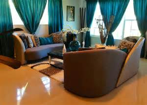 brown and teal living room designs the world s catalog of ideas