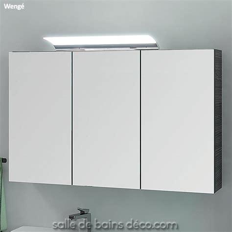 armoire porte en miroir meuble de salle de bains de 100cm achat vente sur salledebainsdeco