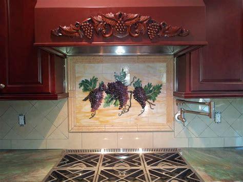 fused glass quot grapes vines quot kitchen backsplash designer