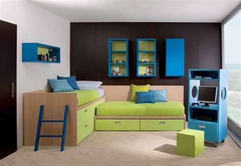 black and white wall paint idea feat l shaped bed with storage underneath in simple room