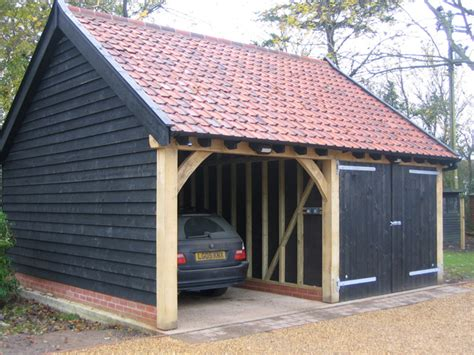 Brick And Timber Garage Construction  Classic Suffolk
