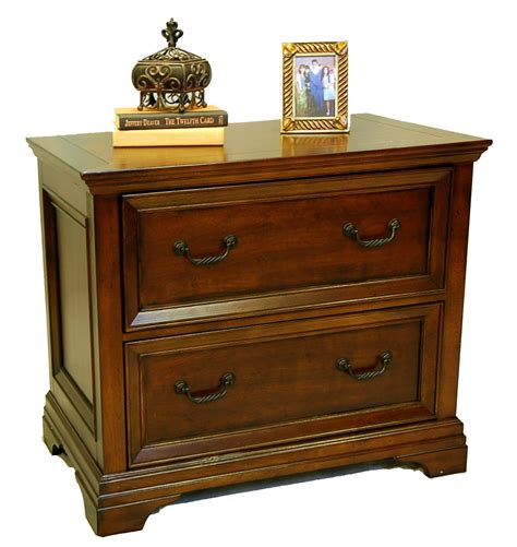 wood traditional cherry locking lateral file cabinet ebay