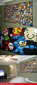 Gaming Zimmer Deko : video game classics on a lego wall video game pinterest lego projekte und ideen ~ Markanthonyermac.com Haus und Dekorationen