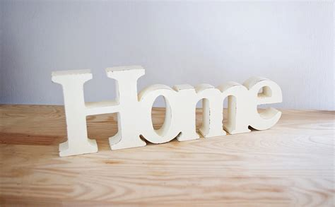 home decor wooden word home shabby chic decorative