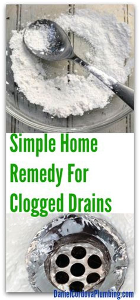 1000 ideas about clogged drains on drain cleaner helpful tips and cleaning tips