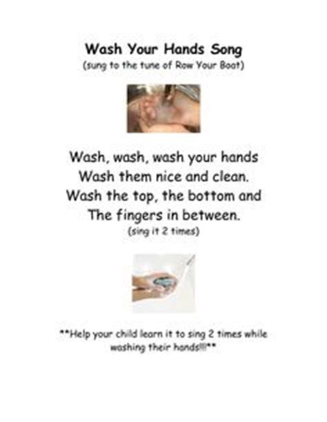 Wash Wash Wash Your Hands Song To Row Row Row Your Boat Lyrics by 1000 Images About Winter Crafts And Book Activities On