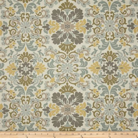 waverly folk damask seaspray discount designer fabric