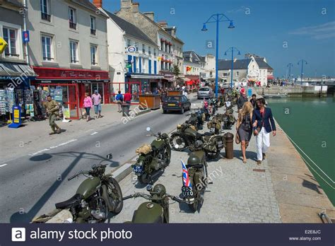 calvados port en bessin commemoration of the june 6 1944 stock photo royalty free