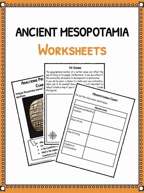 Ancient Mesopotamia Facts & Worksheets  Teaching Resources