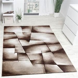 Türkische Teppiche Modern : designer teppich modern kariert handgefertigt mit konturenschnitt braun creme ausverkauf ~ Markanthonyermac.com Haus und Dekorationen