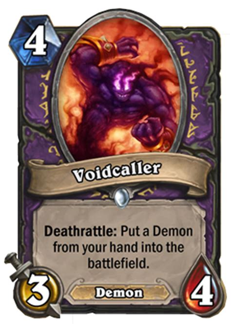 curse of naxxramas warlock card revealed voidcaller