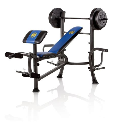Marcy Standard Bench With 80 Lb Weight Set With Butterfly