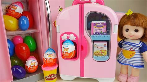 Baby Doll Refrigerator And Kinder Joy Play Doh Surprise
