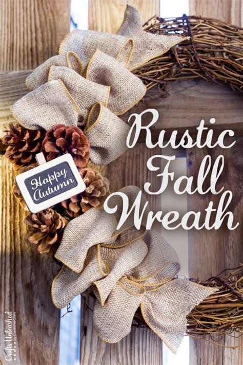 Diy Fall Wreath Rustic Burlap  Crafts Unleashed