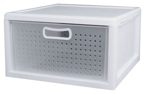 Sterilite 21108003 Deep Closet Drawer White 3-pack