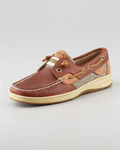 Tan Sperry Boat Shoes by Sperry Top Sider Bluefish Tiefree Boat Shoe Tan In Brown