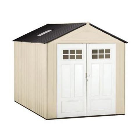 rubbermaid garden sheds home depot rubbermaid big max 11 ft x 7 ft ultra storage shed