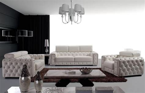 3025 tufted leather sofa loveseat and chair set with