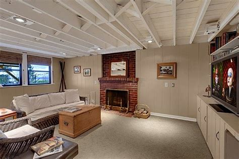 basement exposed ceiling basement can lights exposed ceilings and basement ideas