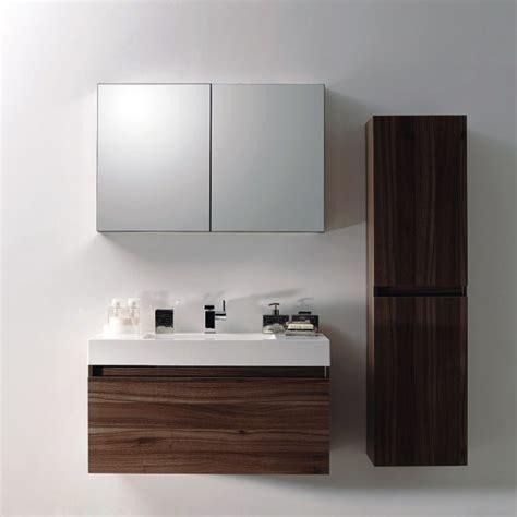 ensemble de salle de bain a1000 armoire de toilette vasque et meuble sous vasque noyer fonc 233