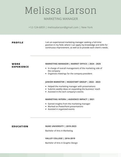 Customize 505+ Simple Resume Templates Online  Canva. Scholarships On Resume. How To Have A Great Resume. Summer Job Resume Sample. Resumes For Servers. Sales And Marketing Professional Resume. Format Of Sending Resume Through Email. Objective Statement For Business Resume. Job Bank Resume Builder
