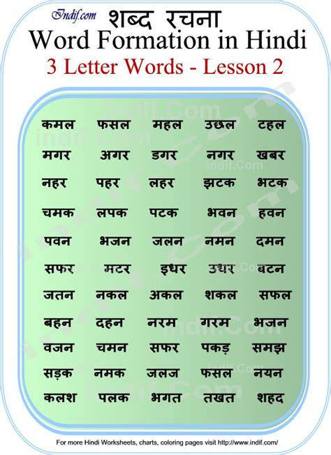 Learn To Read 3 Letter Hindi Words  Lesson 2