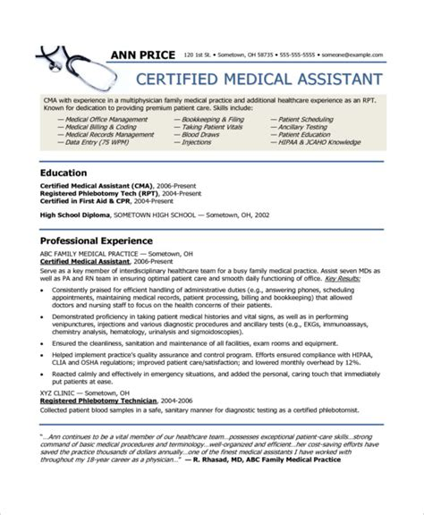 10+ Medical Assistant Resume Templates  Pdf, Doc Free