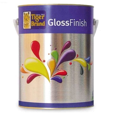 TIGER GLOSS FINISH PAINT 10L FOR WOOD & METAL [44 COLOURS