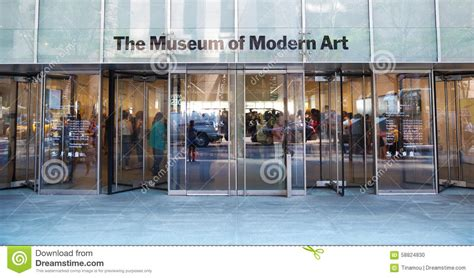moma entrance in new york editorial image image 58824830