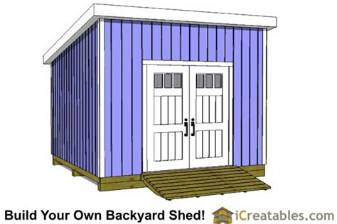 12x12 lean to shed plans icreatables