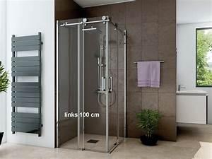 Schiebetür 80 Cm : dusche eckeinstieg schiebet r 100 x 80 cm 220 cm hoch 2 teilig ~ Markanthonyermac.com Haus und Dekorationen