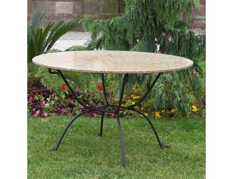 salon de jardin table ronde fer forge qaland