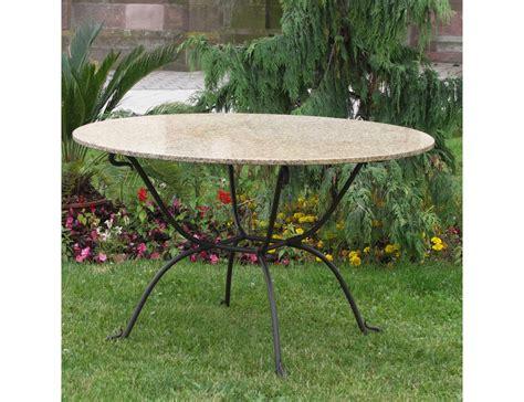 salon de jardin table ronde fer forge qaland