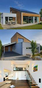 Haus Bungalow Modern : moderner bungalow mit pultdach haus ederer von baufritz fertighaus bauen moderne architektur ~ Markanthonyermac.com Haus und Dekorationen