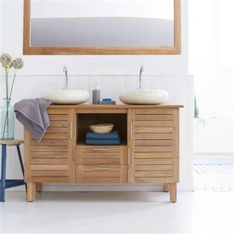tikamoon meuble salle de bain en bois de teck 125 soho pas cher achat vente meubles de