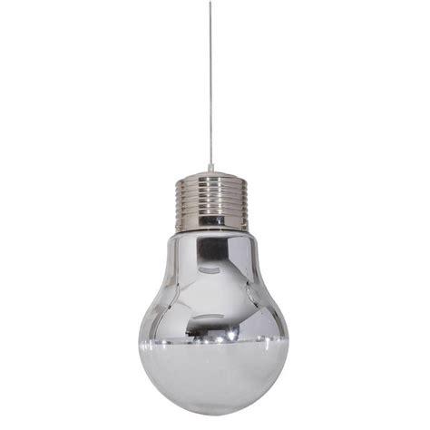 suspension oule corep chrom 233 60 watts diam 15 cm leroy merlin
