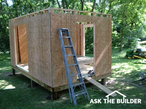 how to build a shed ask the builderask the builder