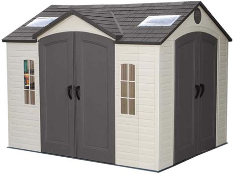 lifetime 10x8 backyard storage shed w doors