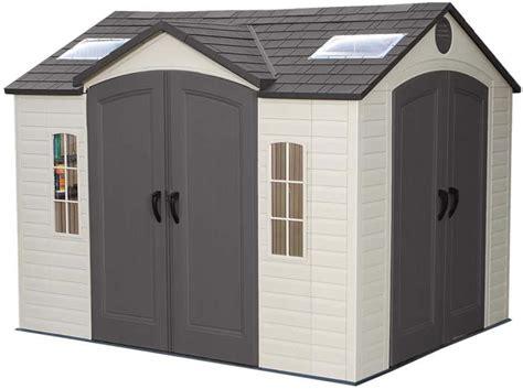 lifetime 10x8 plastic backyard shed w doors 60001