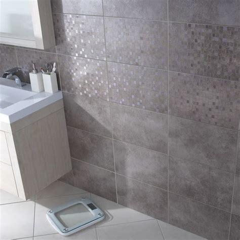 carrelage mural taupe cemento 25 x 40 cm castorama id 233 es pour la salle de bain
