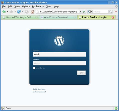 Install Wordpress On Lamp