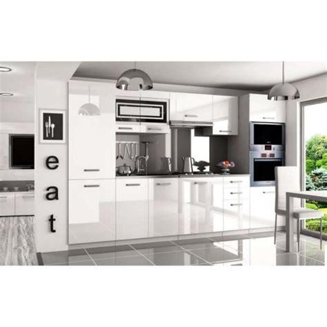 justhome syntka pro cuisine 233 quip 233 e compl 232 te 300 cm couleur noir laqu 233 haute brillance achat