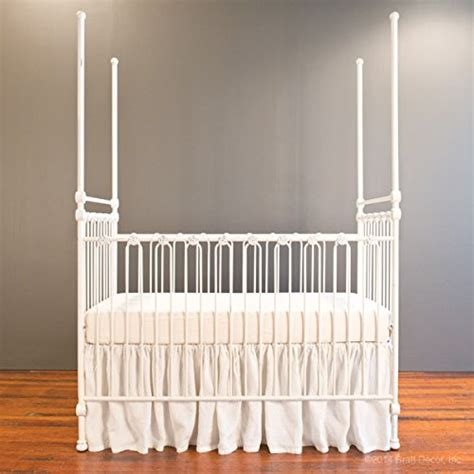 bratt decor canopy crib distressed white the baby barn